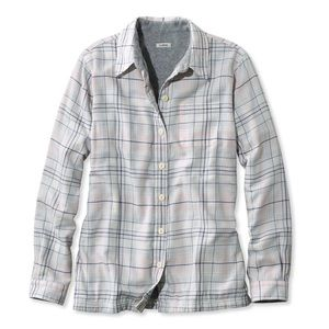 ISO!! LL Bean White Fleece Lined Flannel (Small)
